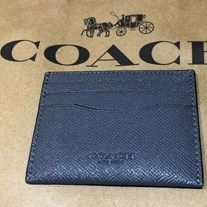 Coach Slim Crossgrain Leather Card Case